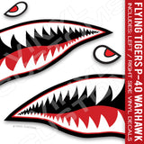 Flying Tigers Shark Mouth Vinyl Decal Stickers (Version 3)