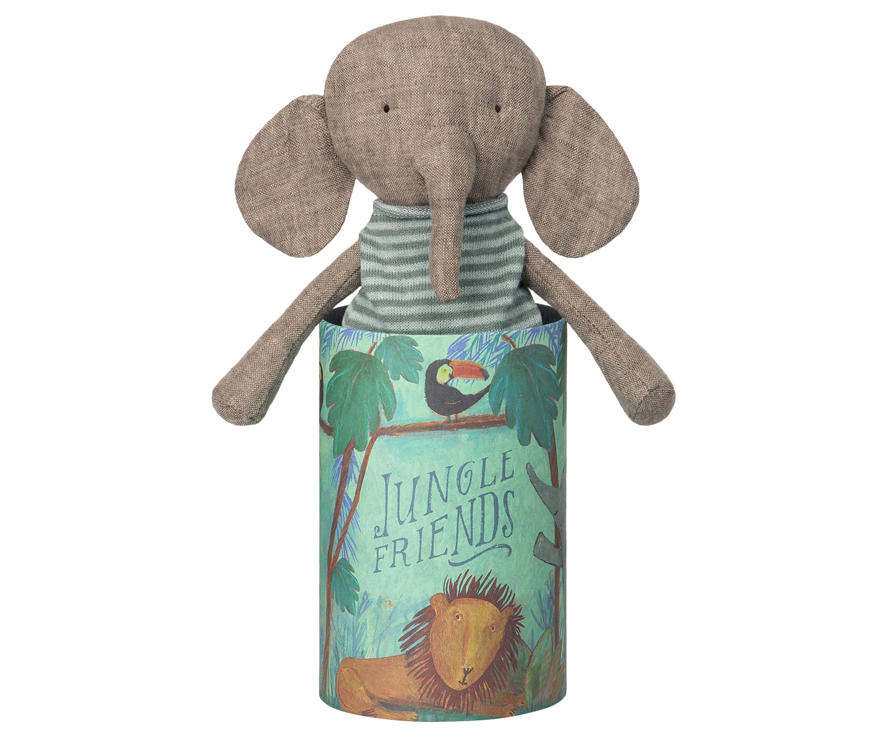 Jungle Friends - elefante en tubo decorado - Miss Coppelia