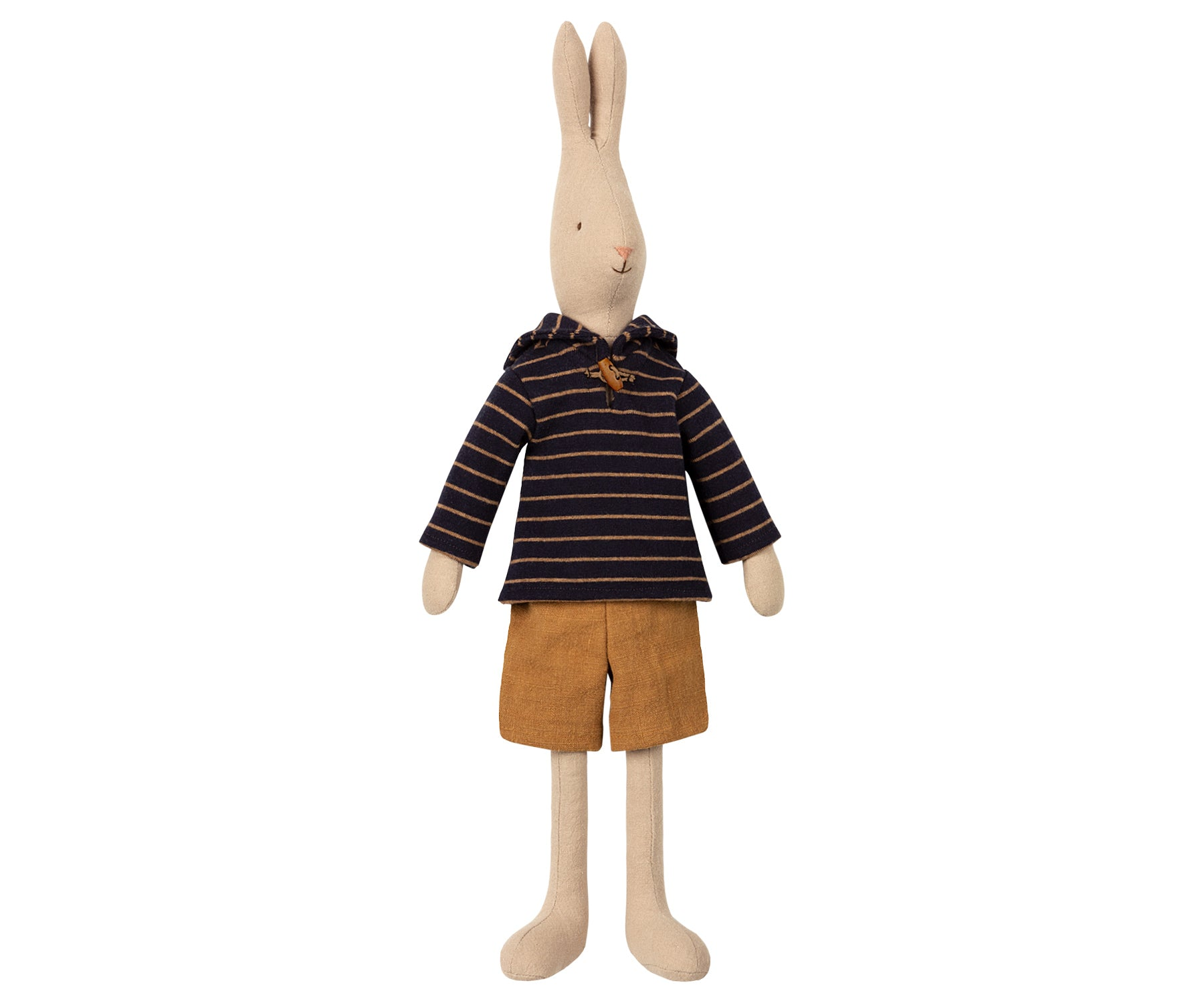 Conejito sailor marino y ocre talla 3 (rabbit, 49 cm) - Miss Coppelia