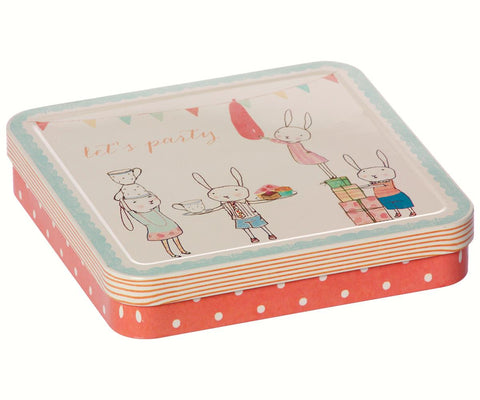 Caja de metal Lets party - rosa - Miss Coppelia