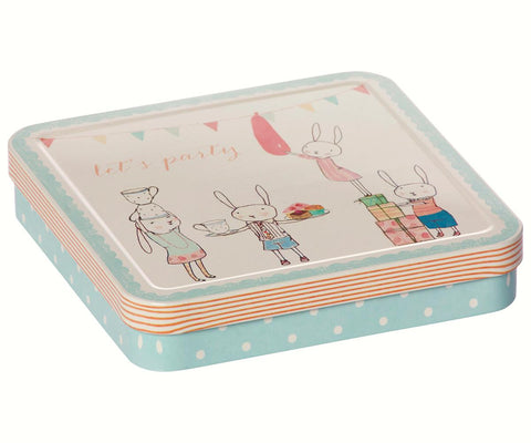 Caja de metal Lets party - azul - Miss Coppelia