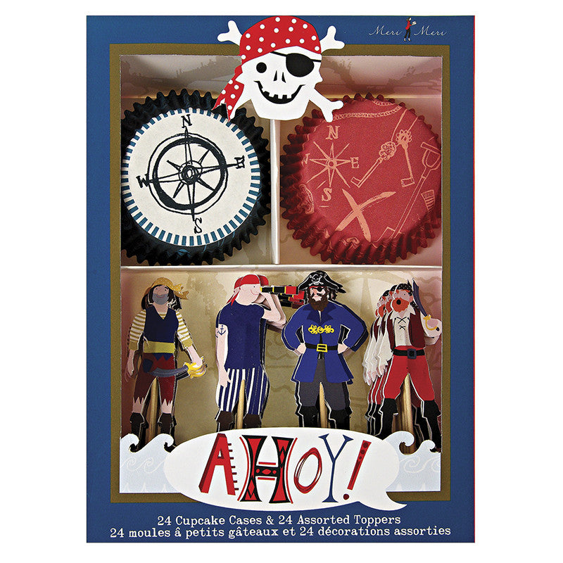 Ahoy there pirate cupcake kit - Miss Coppelia