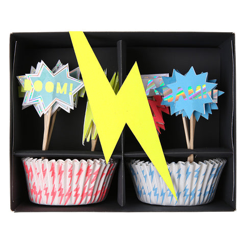 Super Hero cupcake kit - Miss Coppelia
