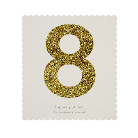 Sticker glitter oro número 8 - Miss Coppelia