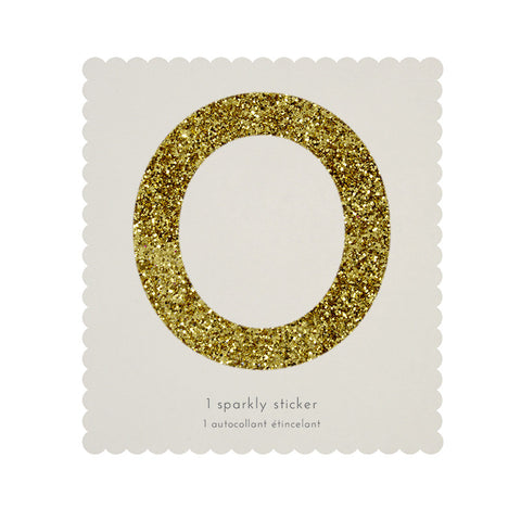 Sticker glitter oro número 0 - Miss Coppelia