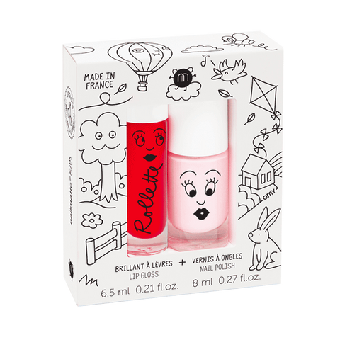 Nailmatic - DUO esmalte y brillo de labios KIDS COTTAGE