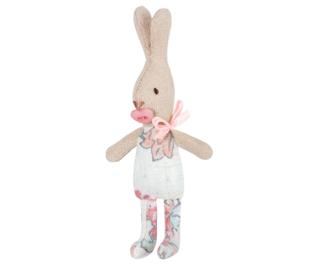 Conejita baby estampado rosa(My Rabbit - 11cm) - Miss Coppelia