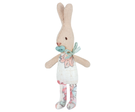 Conejito baby estampado turquesa (My Rabbit - 11cm) - Miss Coppelia