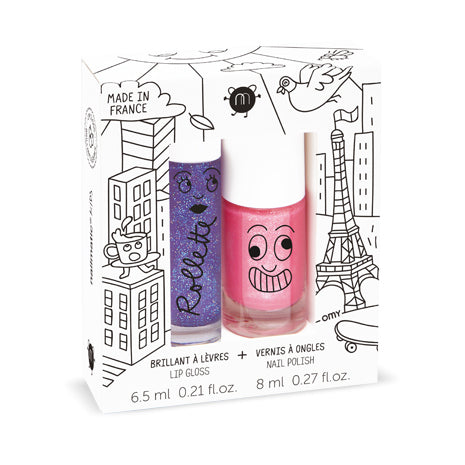 Nailmatic - DUO esmalte y brillo de labios LOVELY CITY - Miss Coppelia