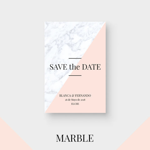 Save the Date Marble