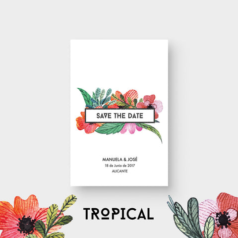 Save the Date Tropical