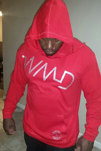 WMD-Silver on Red Hoodie (Mens)