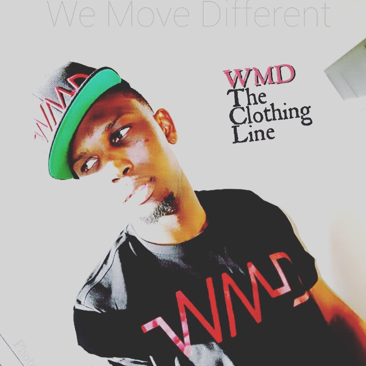 WMD- Men's Red on black hat/shirt set