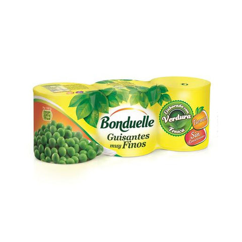 BONDUELLE guisantes extra muy finos pack 3x140 grs