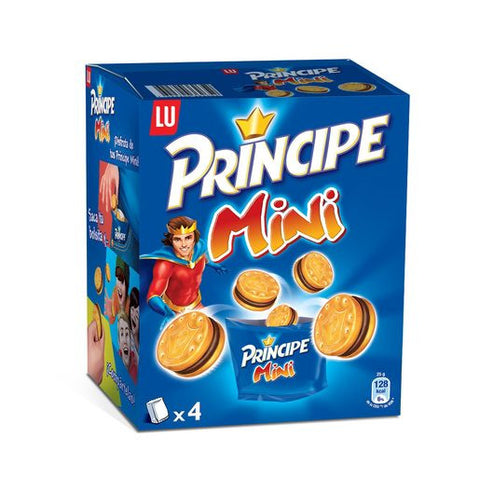 LU PRINCIPE mini galletas rellenas de chocolate pack 4 bolsitas paquete 160