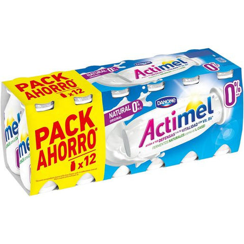DANONE ACTIMEL your liquido natural 0% pack 12 unidades 100 ml