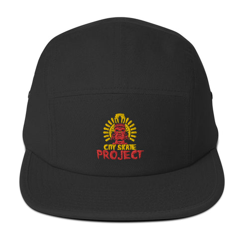 Old School Aztec Logo 2010 Five Panel Cap