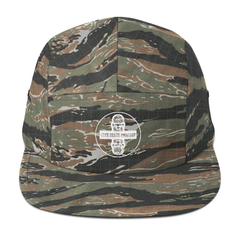 City Skate Project x BxSHI Media 5 panel Camper Hat