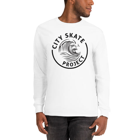 City Skate Project Wave Style Logo Men's Long Sleeve Shirt