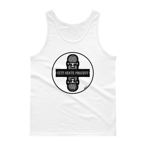 City Skate Project x BxShi Single Woody one color Skateboarding Tank top