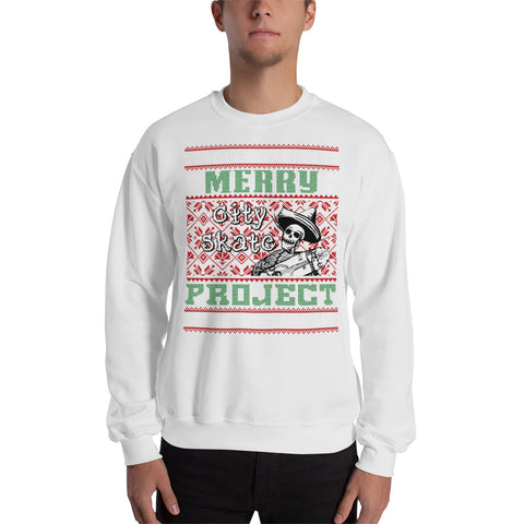 Skateboarding Ugly City Skate Project Sweatshirt Ugly Christmas Sweater