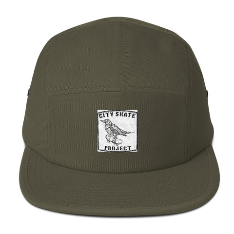 Strange bird Embroidered logo Five Panel Cap