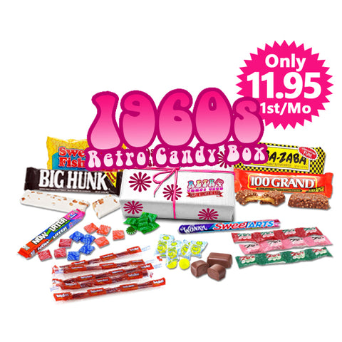 1960s Retro Candy Box Monthly - Only $35 month, Free Shipping!