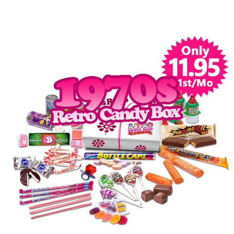 1970s Retro Candy Box Monthly - Only $11.95 1st Month, Try It Out.  $25 per Month after, Free Shipping
