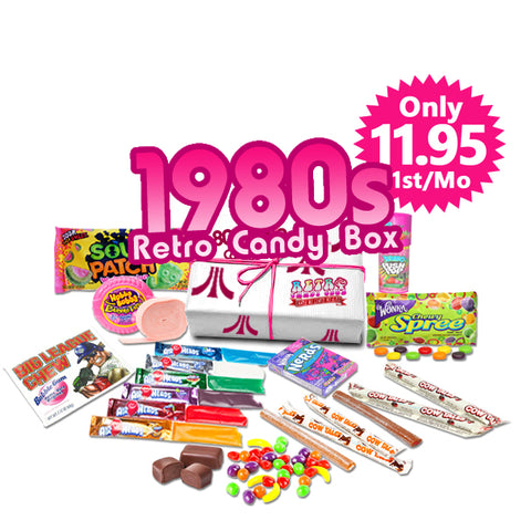 1980s Retro Candy Box Monthly - Only $35 month, Free Shipping!