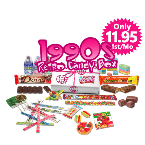 1990s Retro Candy Box Monthly - Only $11.95 1st Month, Try It Out.  $25 per Month after, Free Shipping