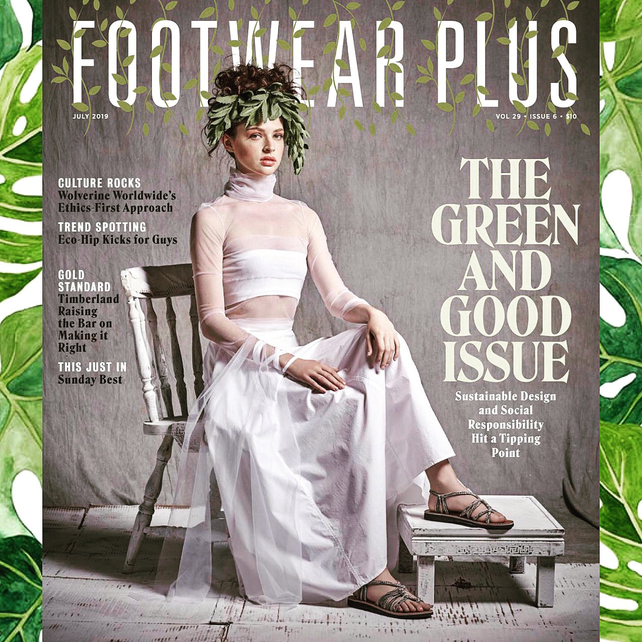 Vines on the Cover! Green & Good, Footwear Plus