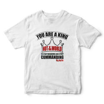 You Are A King Not of This World Quit Begging and Start Commanding The Truth Graphic T-Shirt