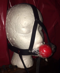 Silicone Ball Gag Head Harness