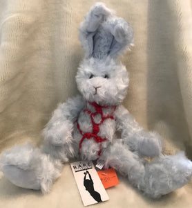 Blue Bunny with red cord bondage