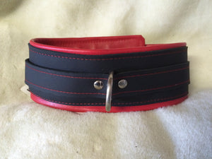 Wide Leather Collar