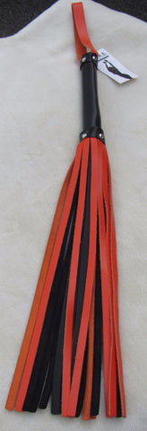 Orange & Black Leather Flogger