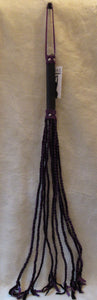 Long Braided Flogger -  Purple & Black