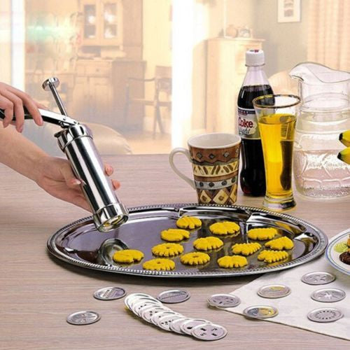 22 pcs Stainless Steel Cookie/murruku Maker