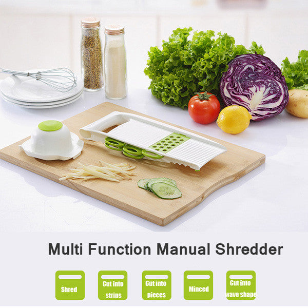 5 pcs/Set multi function Vegetable Shredder Slicer Shredding Device