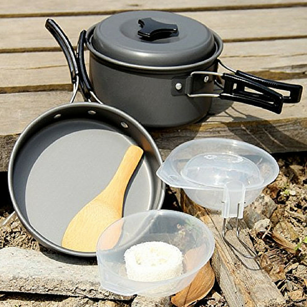 16 pcs Camping Cooking Kit - Complete Set with free Gift