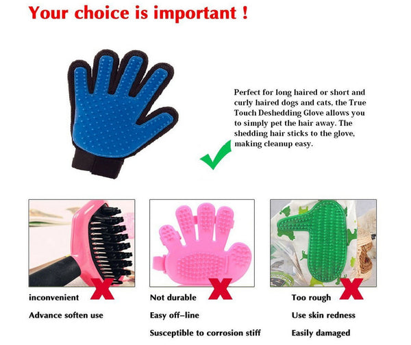 New True Touch Deshedding Glove for Gentle and Efficient Pet Grooming - As seen on tv
