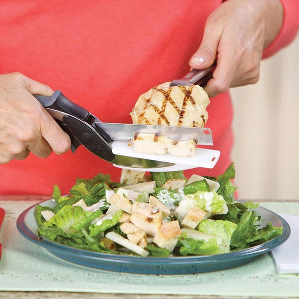 2-in-1 Clever Cutter - Knife with Cutting Board - As seen on TV