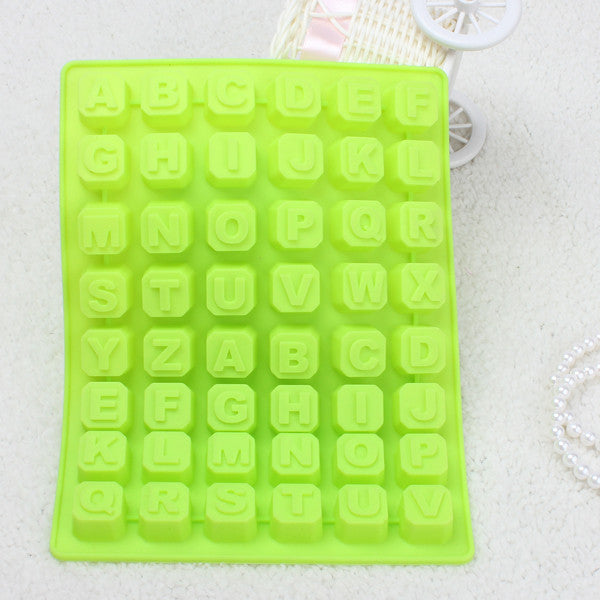 Silicone Alphabet 48 Letters Cake/Cookie Bake Mold