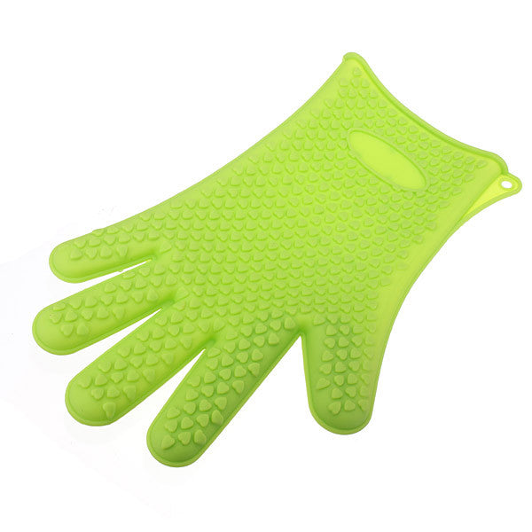 Baking Oven Mitt Grip - Heat Resistant Silicone Gloves