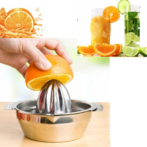 Stainless Steel Citrus Juicer - Hand Press Squeezer Tool