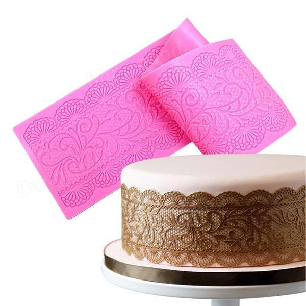 Silicone Cake Lace Flower Embossing Mold - Fondant Cake Decorating Tools