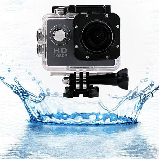 PRO HD 1080P Action Sports Camera with Waterproof Accessory Pack
