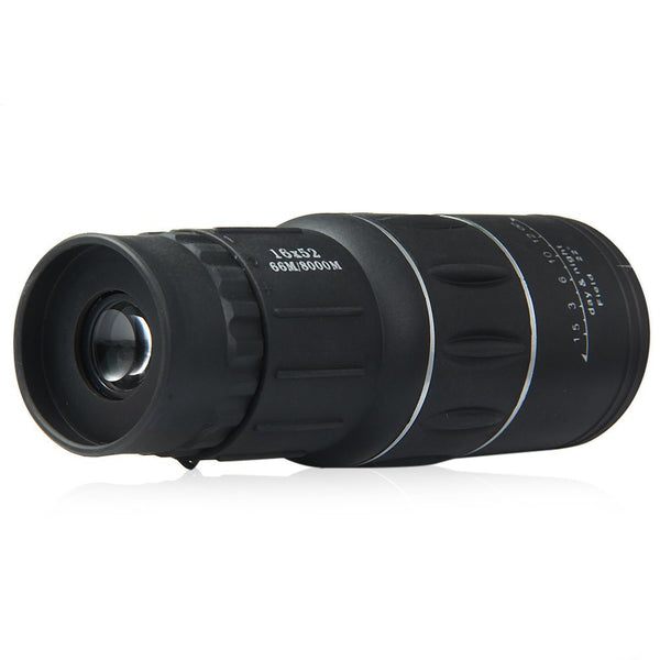 Newest 16x52 Dual Focus Zoom Optic Lens Day Night Vision - Armoring Travel Monocular Telescope Binoculars