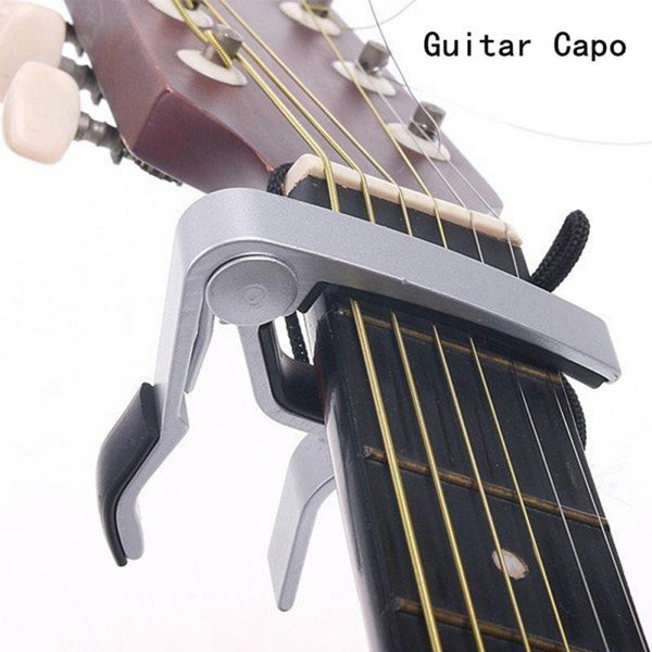 Quick Change Clamp Key Acoustic Guitar Capo For Tone Adjusting