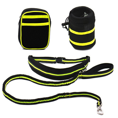 Waist Dog's Leash Running Lead Collar